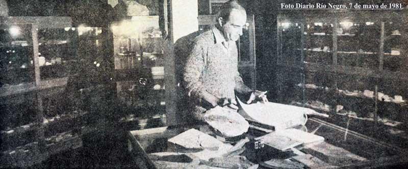 Jefe del Área Museo de la Dirección General de Minería, el Sr. José Ignacio Garate Zubillaga - 1981