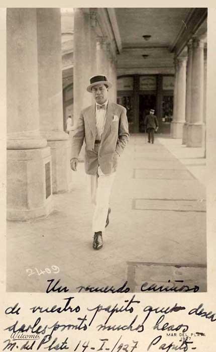 Gregorio Álvarez en Mar del Plata, 1927