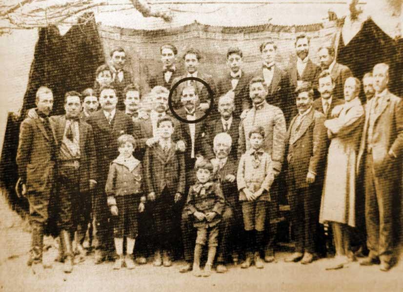 Sergio Toledo, en el centro.