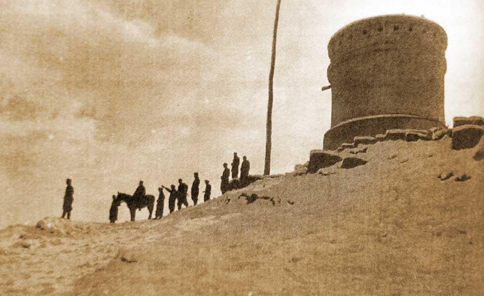 El Torreón de Chos Malal en la cima del Cerrito.