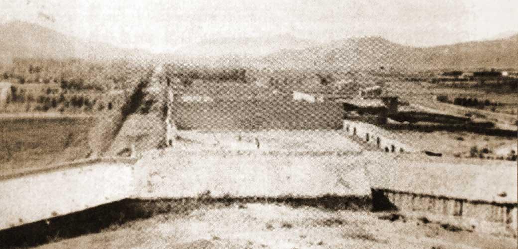 Chos Malal, capital del territorio del Neuquén a finales del Siglo XIX, foto tomada desde el Torreón.