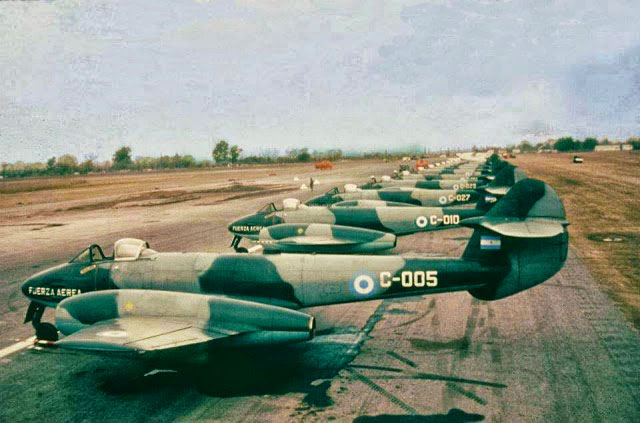 Glosters Meteors de la Fuerza Aérea Argentina