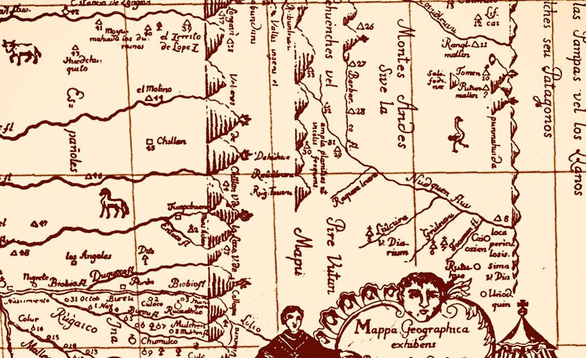 El primer mapa del Neuquén - 1752 - de Bernardo Havestadt