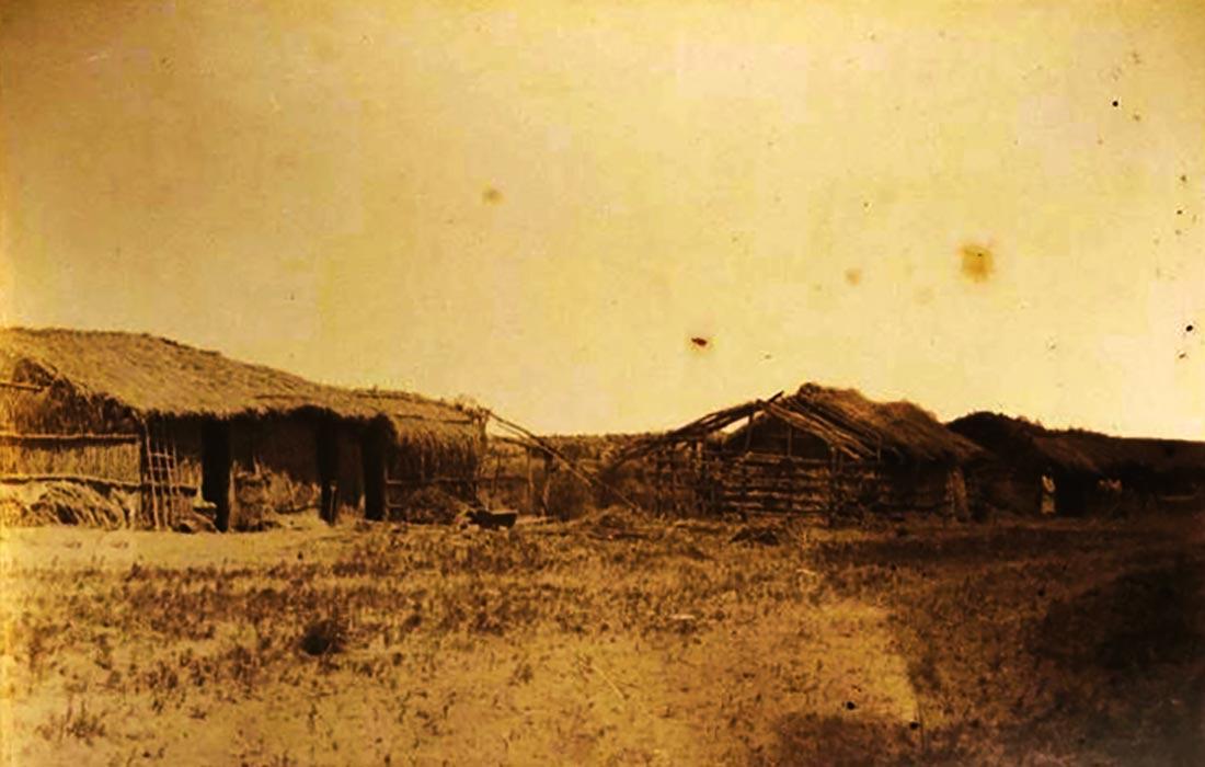 Imagen ilustrativa: rancho cercano al río Limay. Fines del siglo XIX.