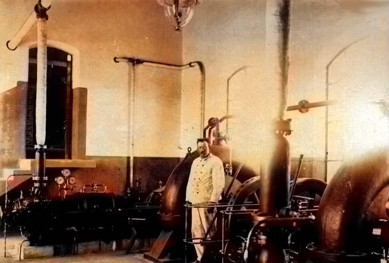 Sala de máquinas del establecimiento Los Canales.