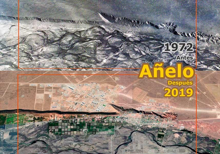 Añelo - Antes - Después - 1972 - 2019