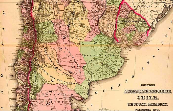 Mapa de la República Argentina de 1886