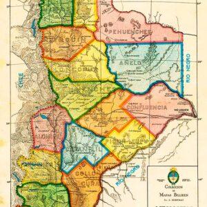 Mapa del territorio del Neuquén - Revista Billiken, 1931