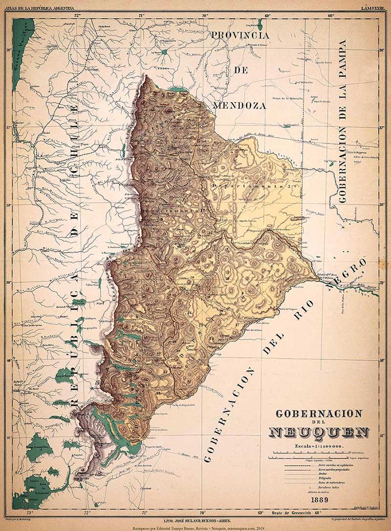 Mapa del Territorio del Neuquén - 1889Mapa del Territorio del Neuquén - 1889