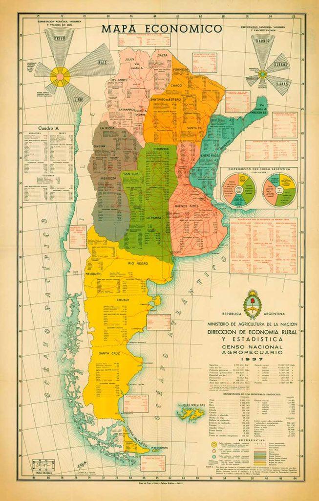 Mapa económico de la República Argentina de 1937