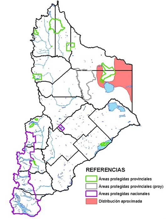 Área de distribución en Neuquén de la tortuga terrestre