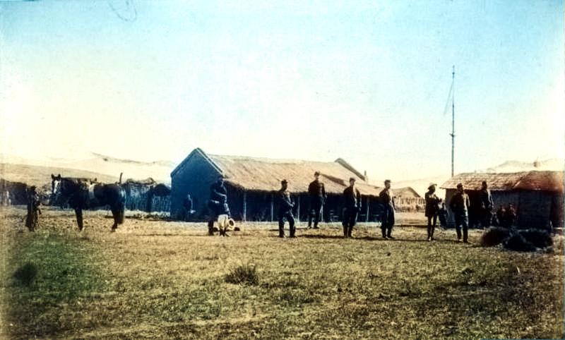 Edificio de la comandancia en Codihue - Oficiales del regimiento nº 11