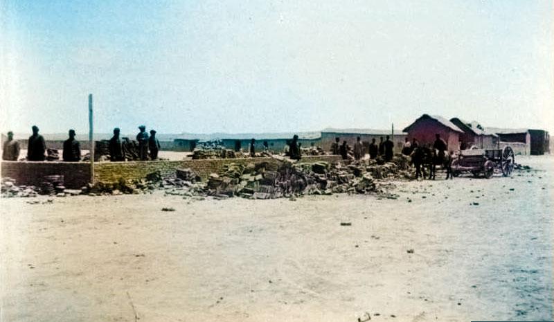 Fuerte Gral Roca - Cuartel del Batallón 2 en construcción
