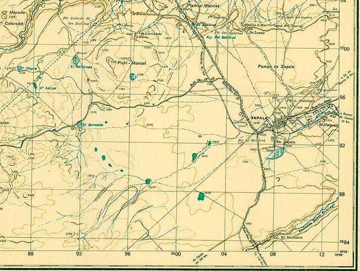 Zapala - 1930 - carta topográfica