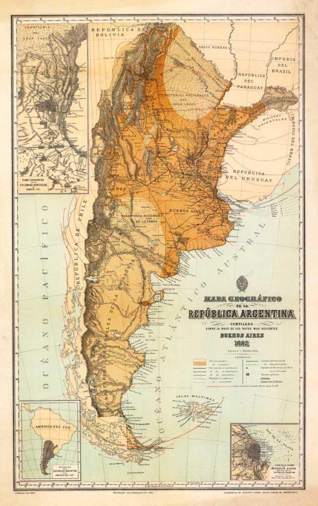 Mapa de la República Argentina de 1882