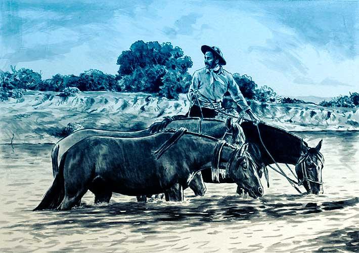 Un fugitivo desconocido. De Félix San Martín.