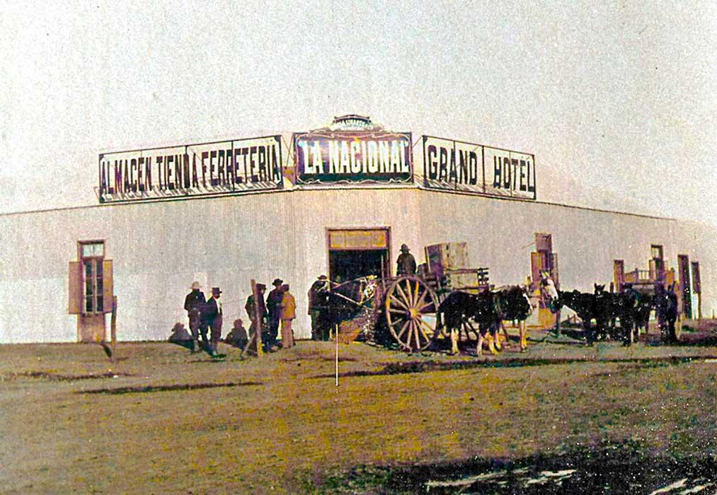Negocio de ramos generales, hotel y bar, «La Nacional» establecido por la firma Varela, Linares y Cía.