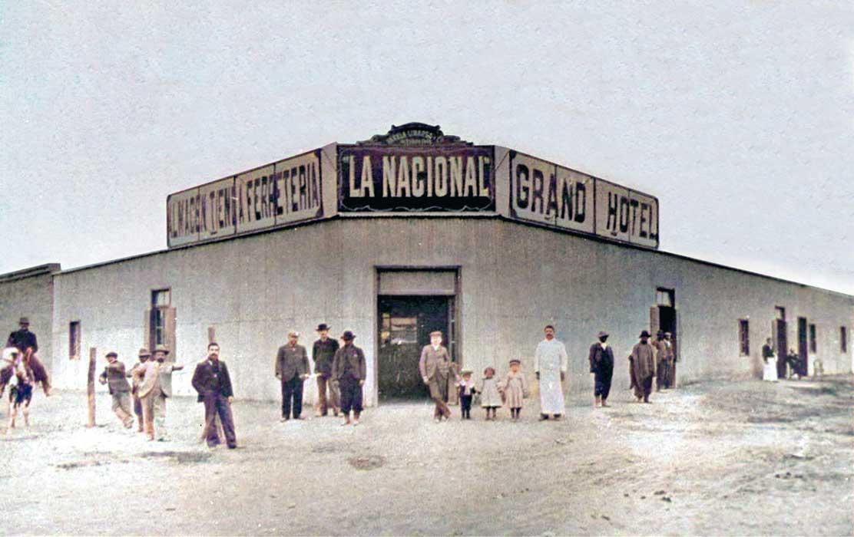 Negocio de ramos generales, hotel y bar, «La Nacional» establecido por la firma Varela, Linares y Cía