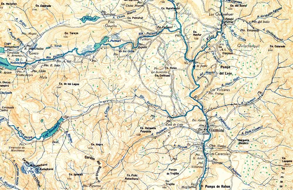 Plano topográfico – Aluminé - 1936