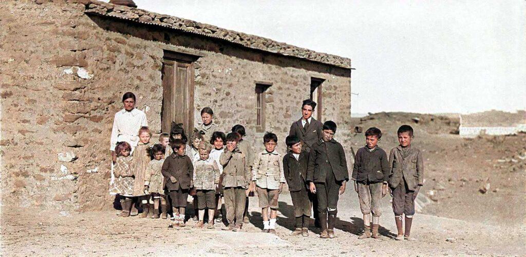 Escuela en el campamento - 1919