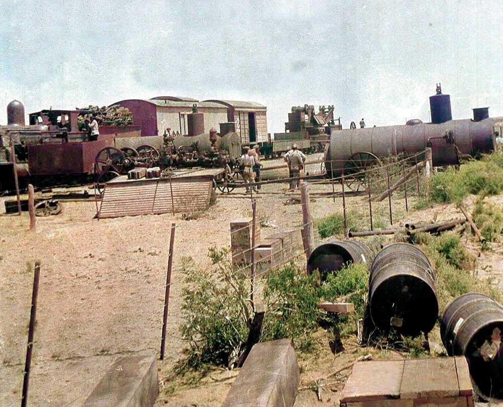 Llegada de materiales con el ferrocarril