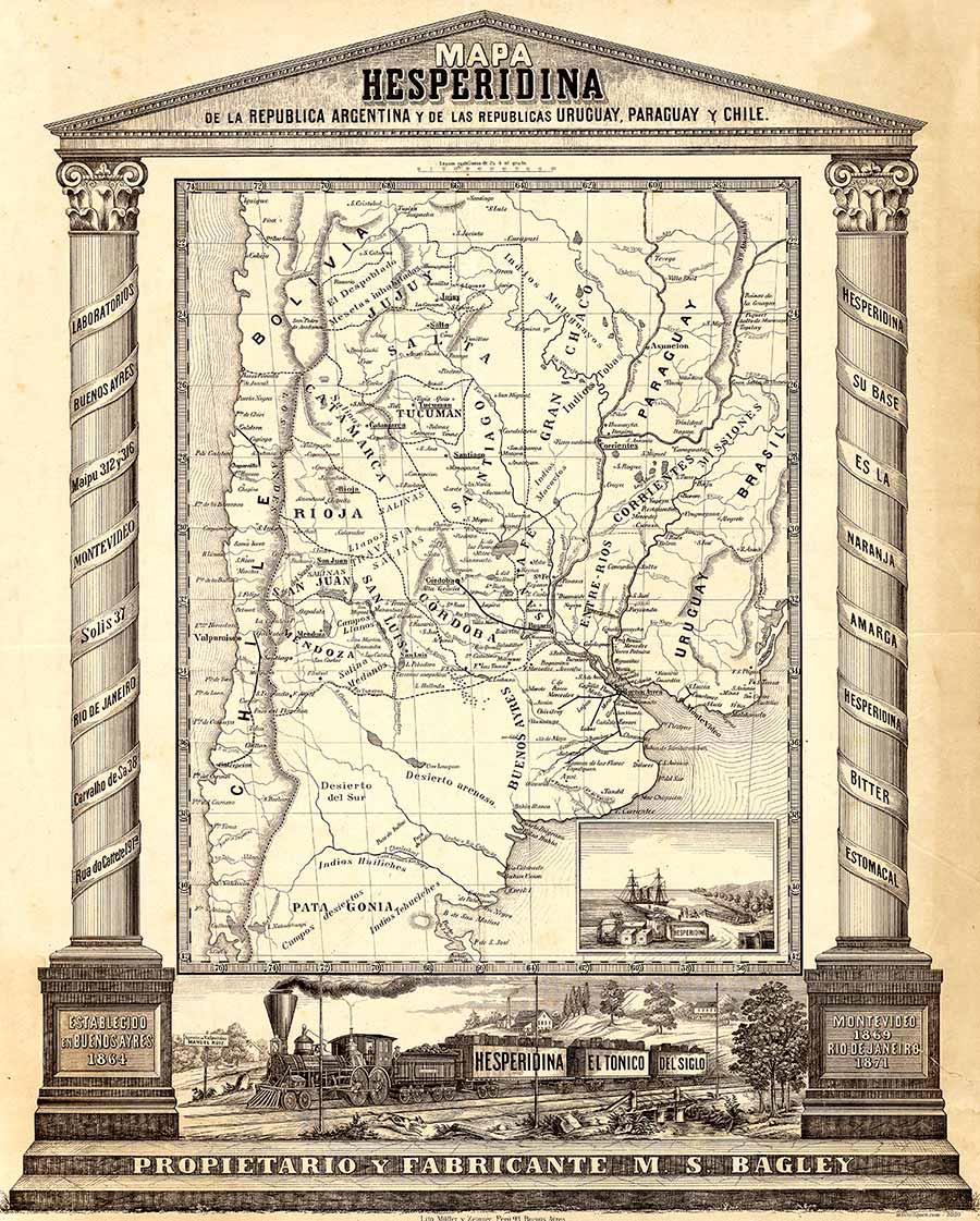 Mapa de la Aregntina 1878 - Hesperidina
