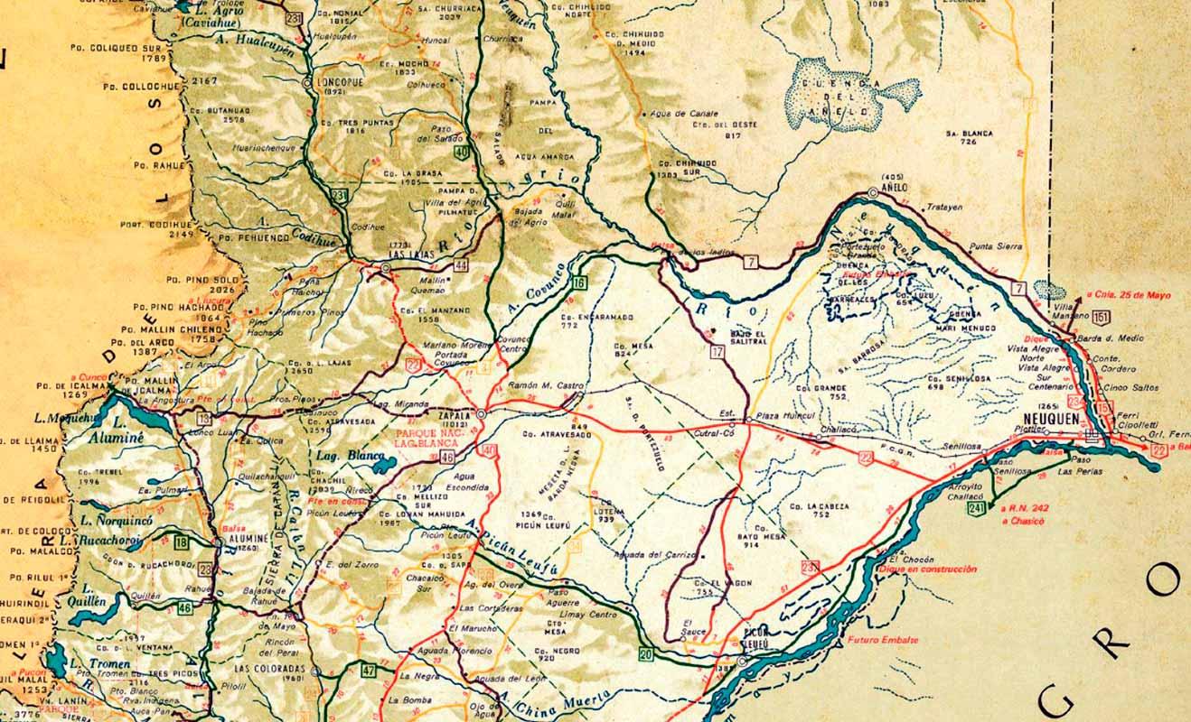Mapa de Neuquén - 1972 - Vialidad Nacional