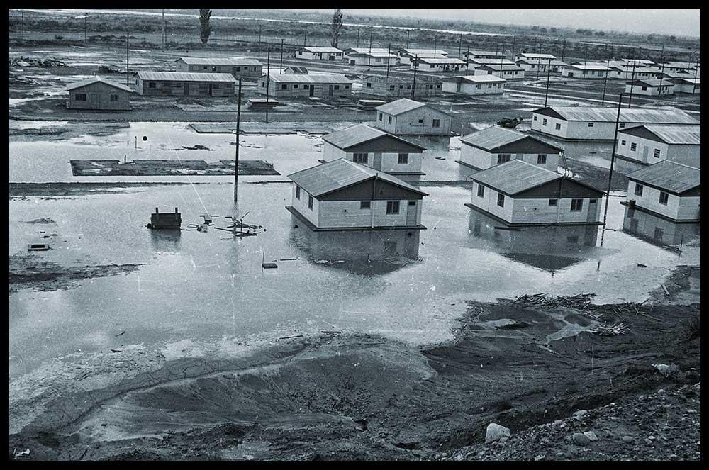 Primavera del 73. Luego de una granizada, una gran tormenta dejó la villa inundada.