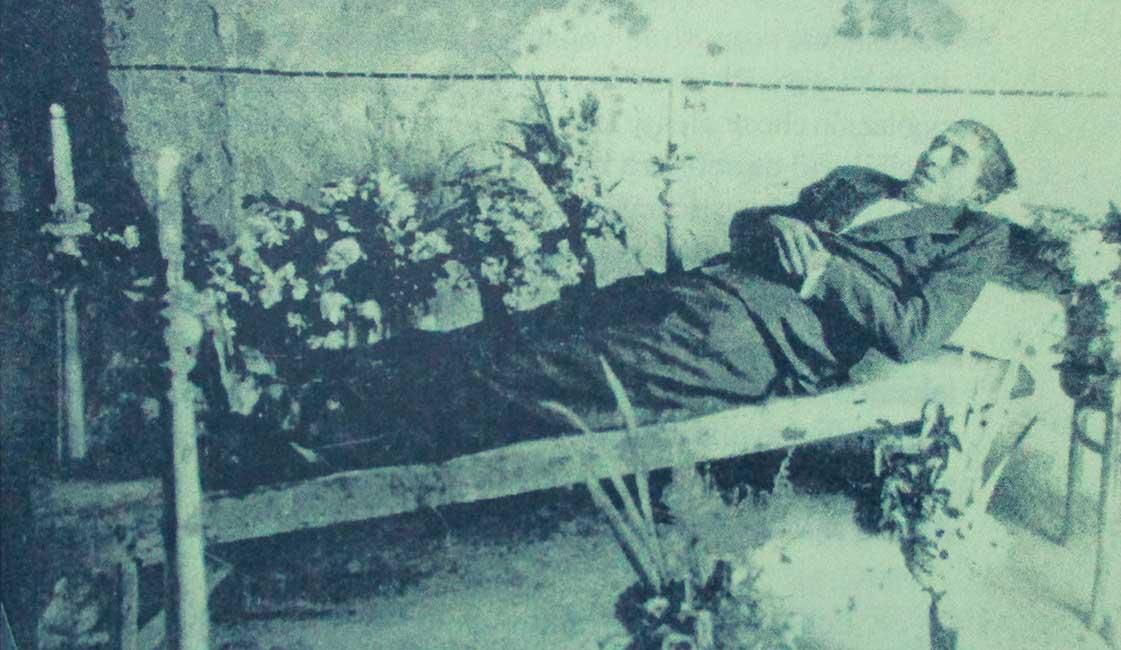 Velatorio de Salvador Buchara. Fotos publicadas en el libro: Historias Secretas del Delito y la Ley.