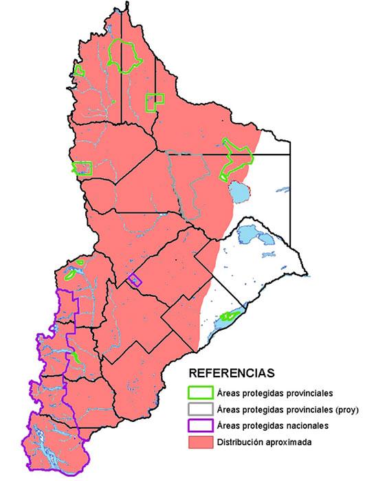Distribución en Neuquén del zorro colorado.