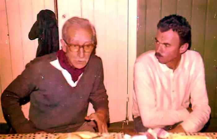 Con Horacio Molinari, uno de los impulsores del Instituto Patagónico de Ciencias Naturales.