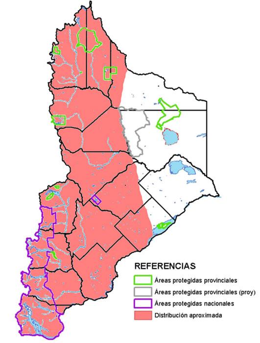 Distribución en Neuquén del Huairao
