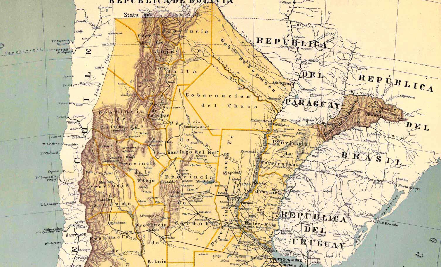 Plano General de la República Argentina – 1892 –