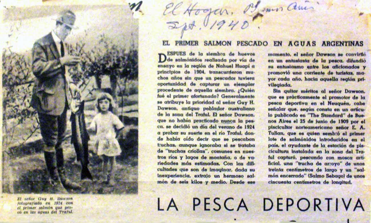 Fragmento de página de la revista El Hogar de 1940. Foto de Betty Dawson
