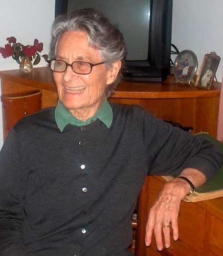Betty Dawson facilitó información y fotos para la investigación sobre el hotel. Archivo de la autora