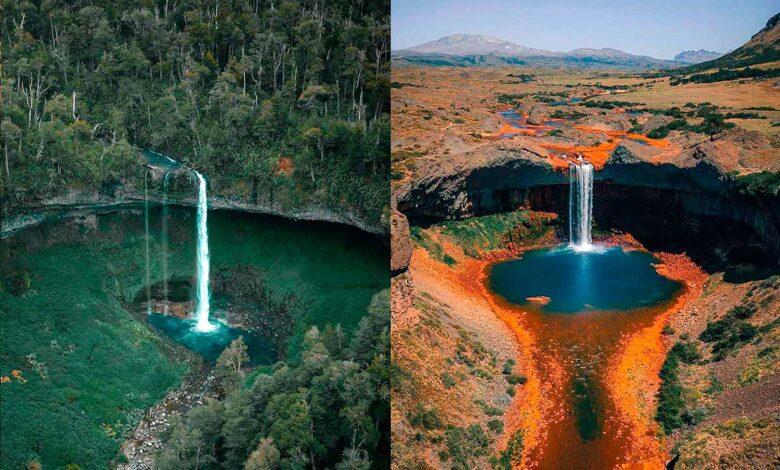 Salto del Agrio y Santa Ana, dos cascadas neuquinas iguales pero distintas