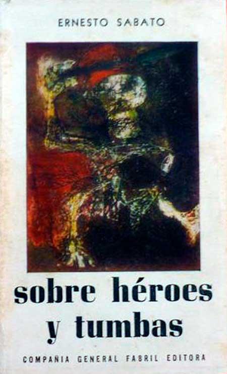 """Tapa de la primera edición de """"Sobre héroes y tumbas""""."""