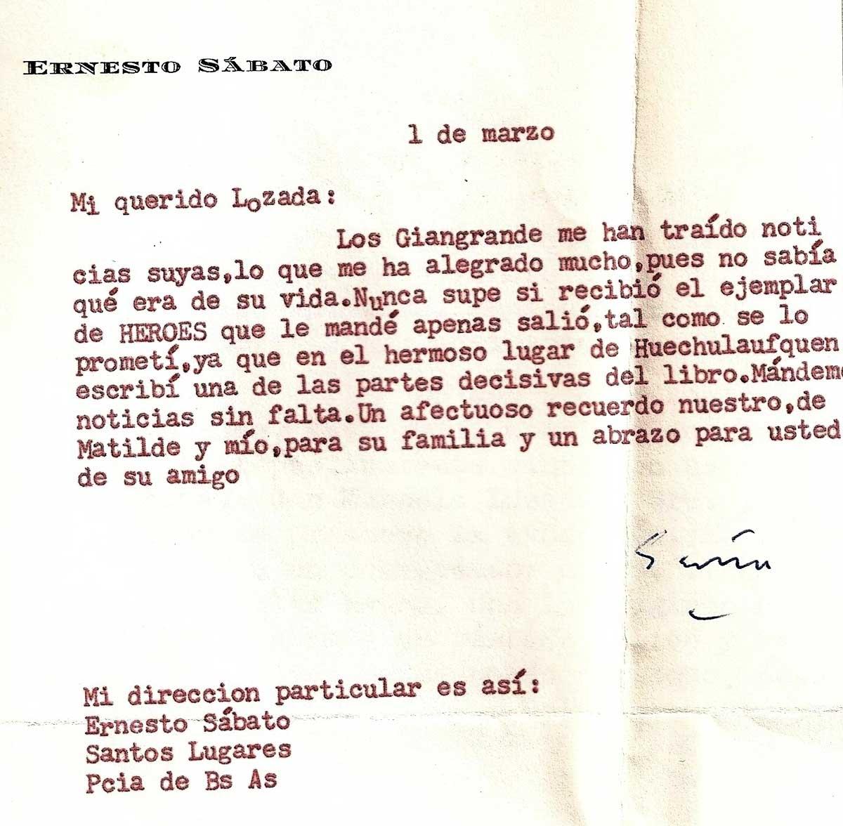 El texto de esta carta confirma los comentarios sobre la influencia del entorno en el final de la novela.