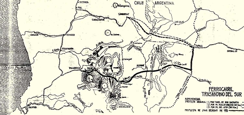 Proyecto del ferrocarril trasandino de Juan Benigar