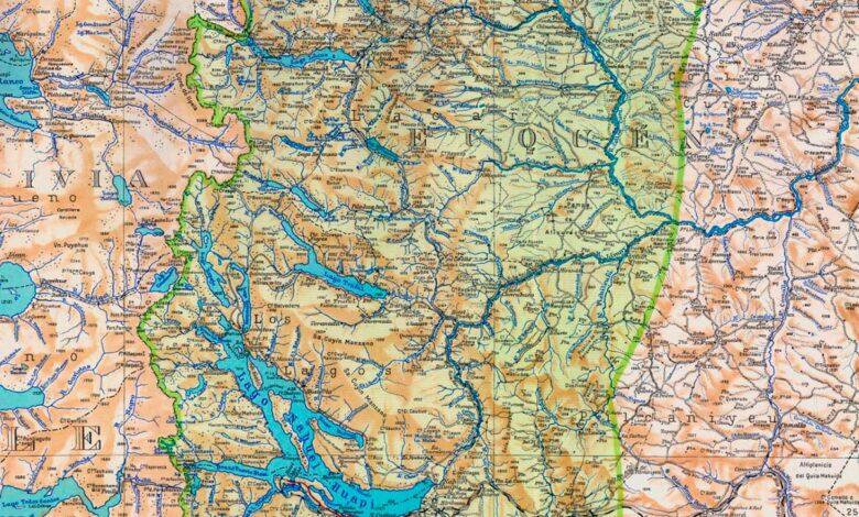 Mapa del Nahuel Huapi compilado en 1941
