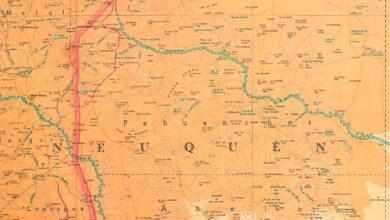 Mapa del norte neuquino de 1967