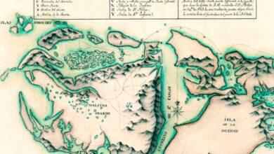 Mapa de las Islas Malvinas de 1768