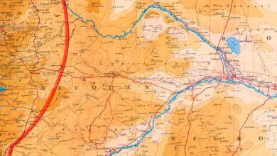 Mapa de la zona central de Neuquén - 1965
