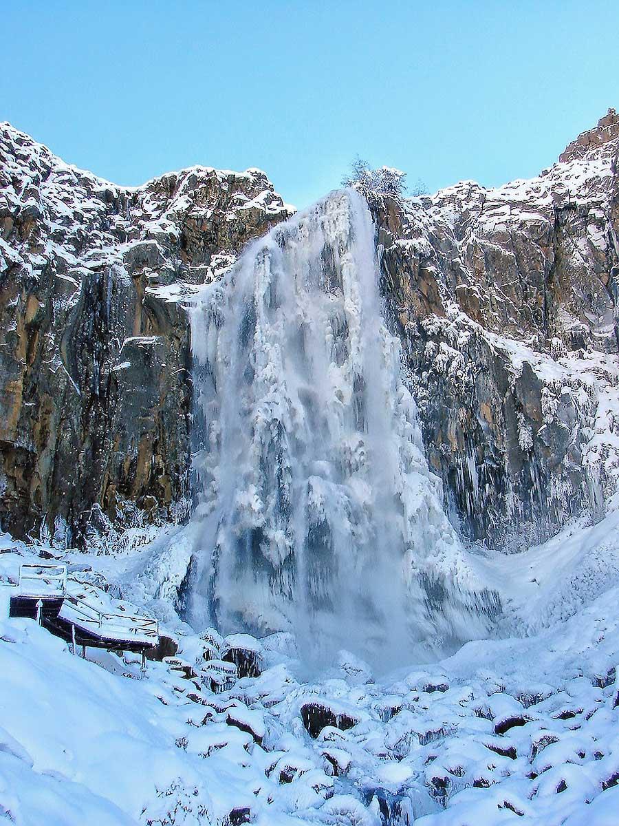 Cascada La Fragua - Congelada en un 90 %.