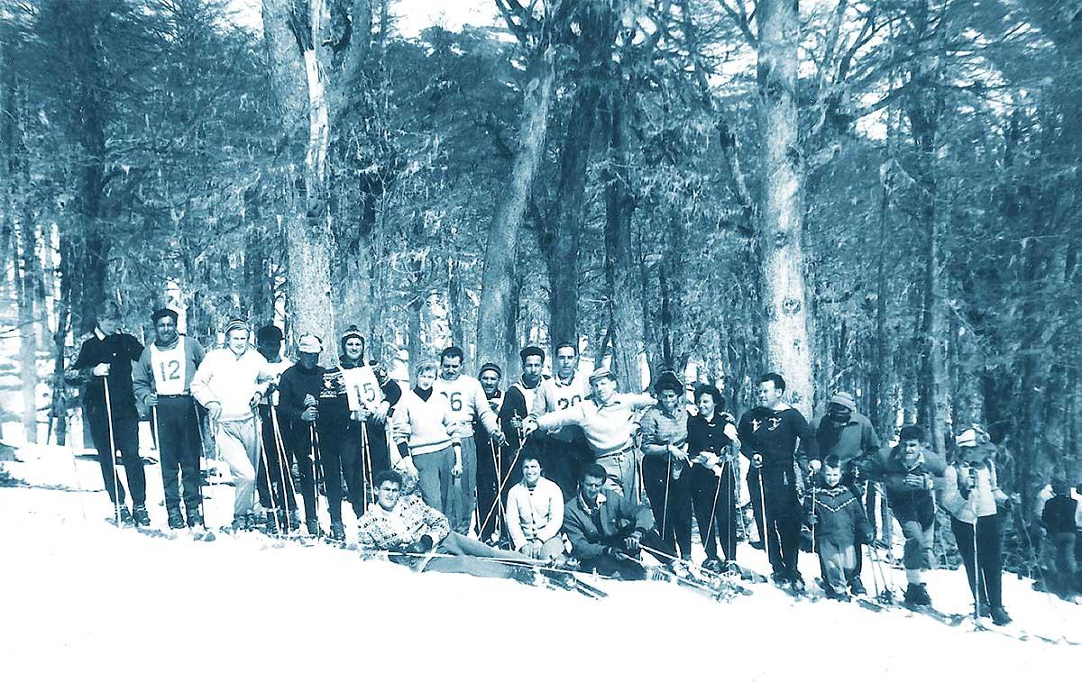 Competencia en Chapelco en la década del '40.