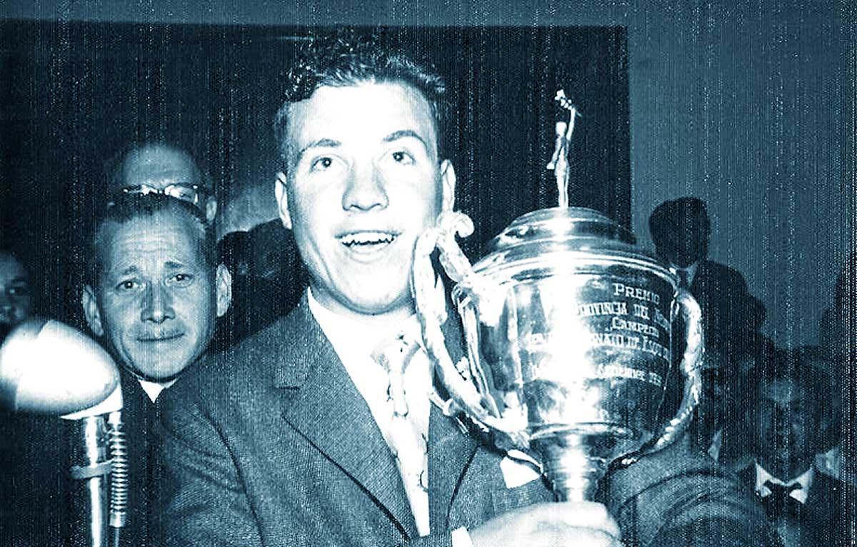 El sanmartinense Rodofo Alder, fue el primer campeón provincial de esquí, certamen desarrollado en Chapelco.