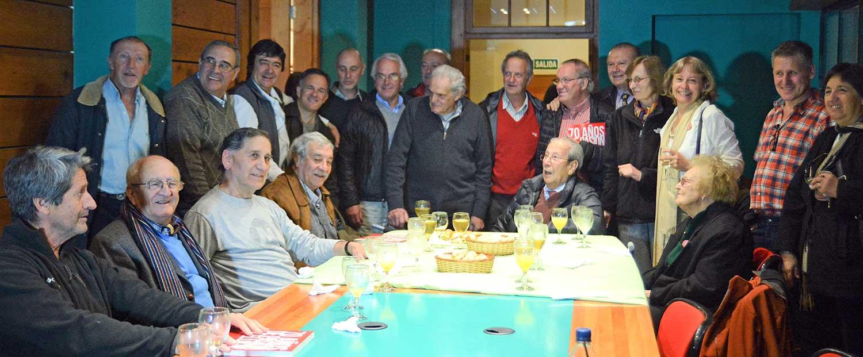 Referentes de la entidad, durante uno de los festejos del 70° aniversario, en 2016.