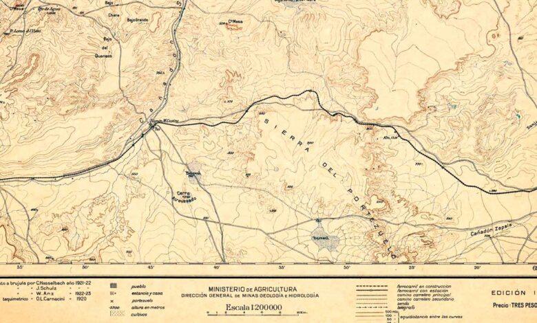 Plano topográfico de Ramón Castro - 1926