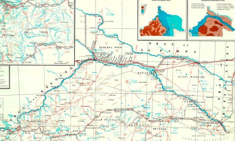 Mapa de Río Negro de 1968