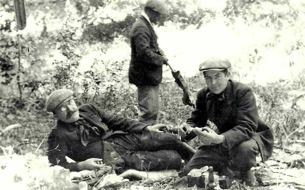 Miguel Camino, Emilio Mahiles y Antonio Carro